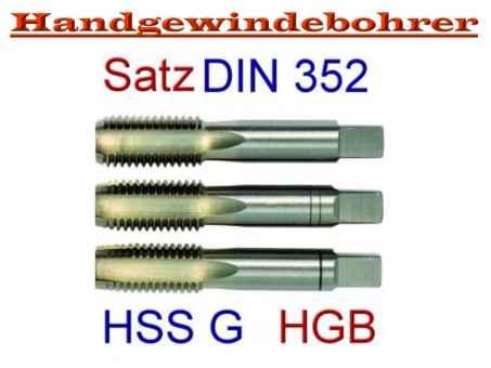Handgewindebohrer Satz WEXO 3tlg M12 HSS E DIN 352