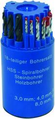 Holzbohrer Spiralbohrer Steinbohrer Set 18 tlg