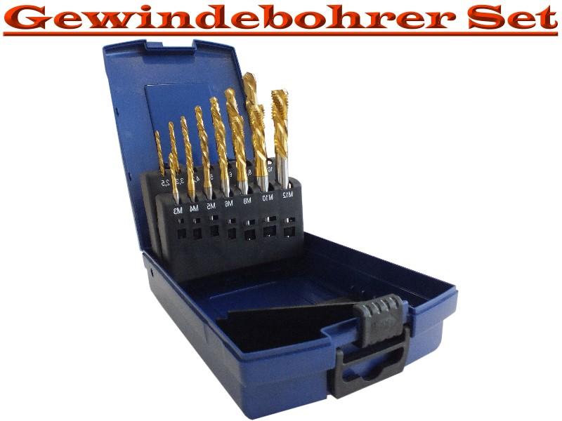 sacklochgewindebohrer din 371 rsp profi set hsseco tin 14. Black Bedroom Furniture Sets. Home Design Ideas