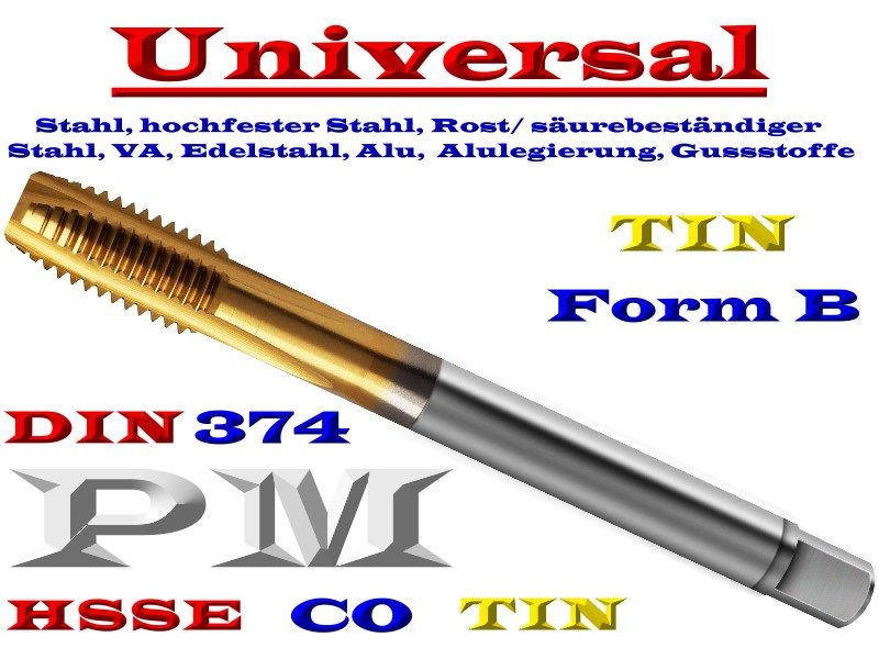 hss co pm tin universal mf maschinen gewindebohrer din 374 form b werkzeuge. Black Bedroom Furniture Sets. Home Design Ideas