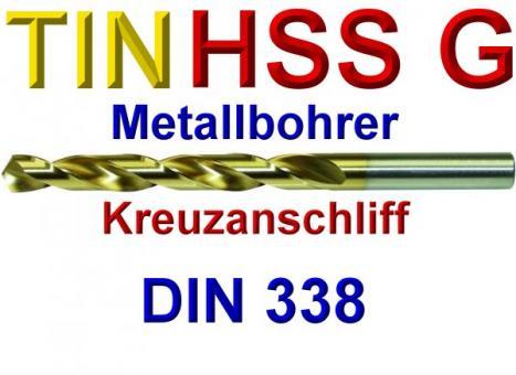 TIN Metallbohrer Titan Bohrer